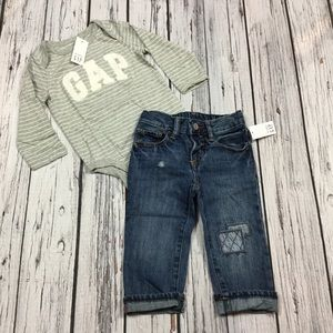 Gap Boys 12 18 Month Shirt & Denim Jeans Outfit